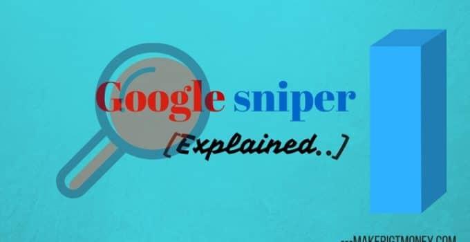 Google sniper 3.0 infographic