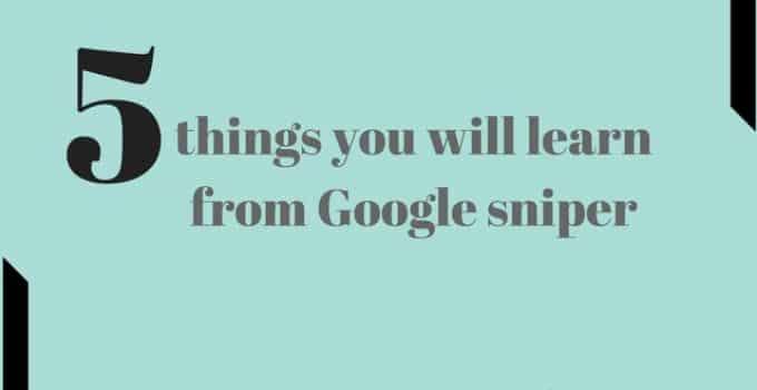 Google sniper training