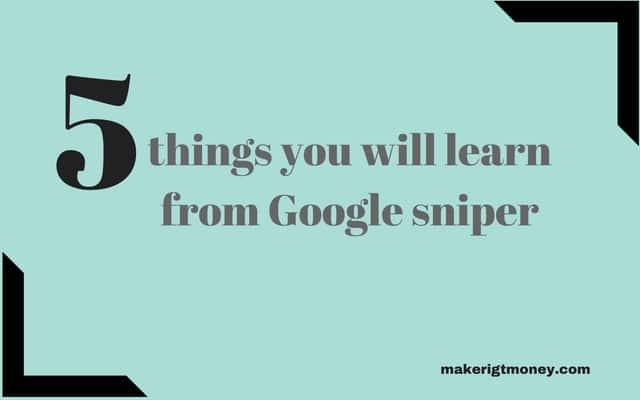 Google sniper training