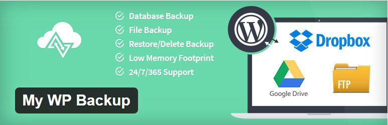 my wp backup wordpress plugin