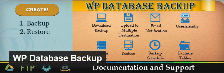 wp database backup plugin