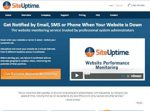 siteuptime service review