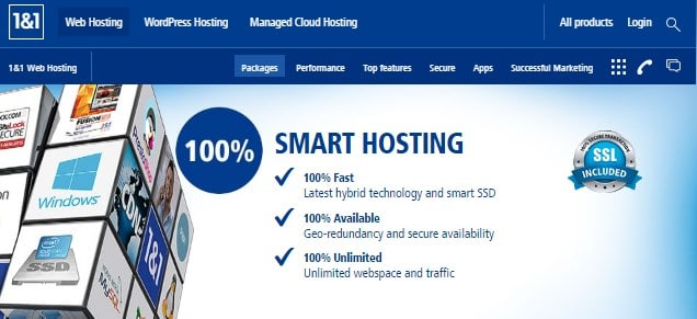 1and1 affordable web hosting