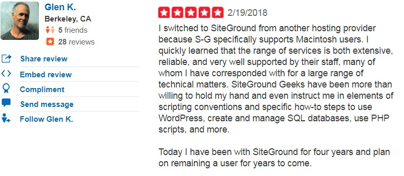 Glen's Opinion about using Site Ground hosting