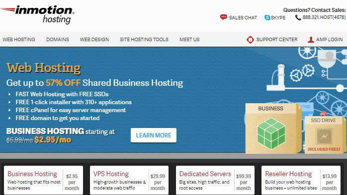 Inmotion hosting domain buying service