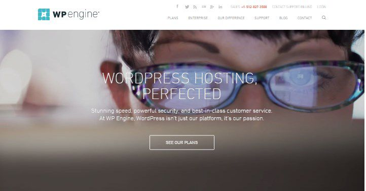 WP Engine top web hosting