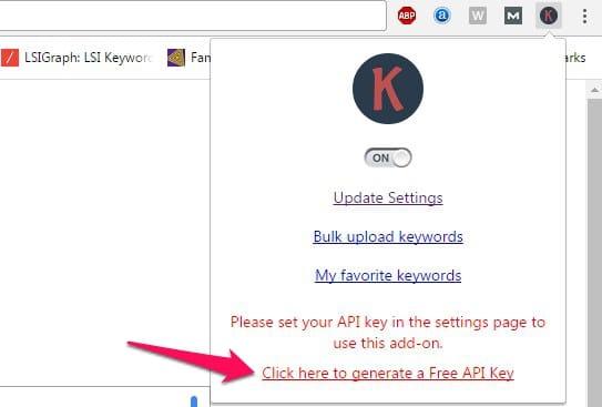 get keywordseverywhere api key
