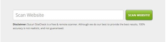 sucuri online scanner