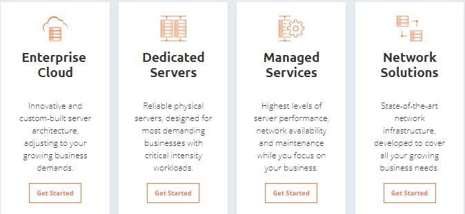 Host1plus product services