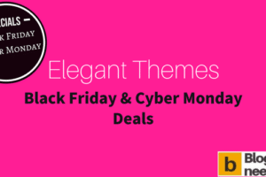 Elegant Themes Black Friday Sale for 2017 to get 25% Offer