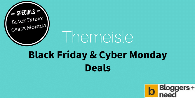 Themeisle Black Friday Cyber Monday