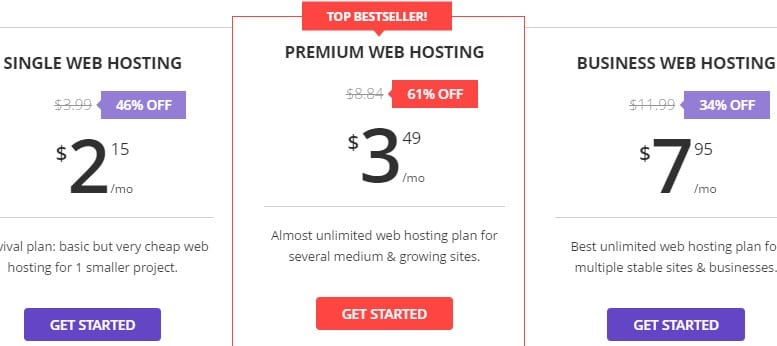 Hostinger Plans Pricing