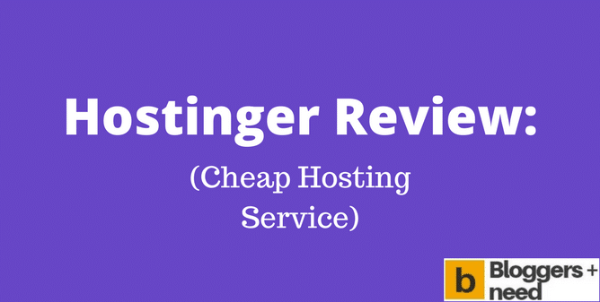 My Hostinger Review