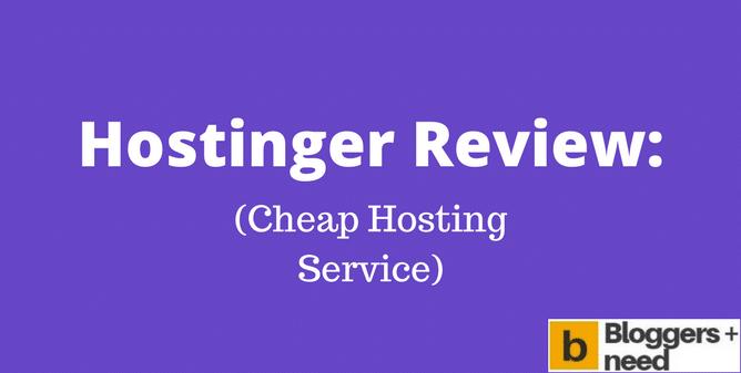 My 2018 Hostinger Review