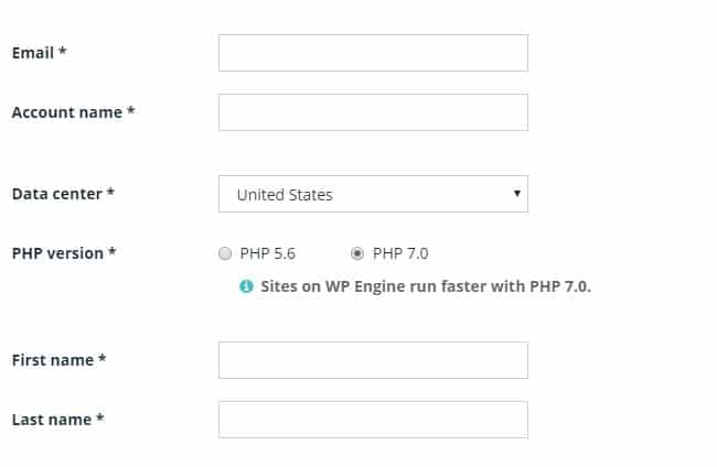 WP Engine Billing page