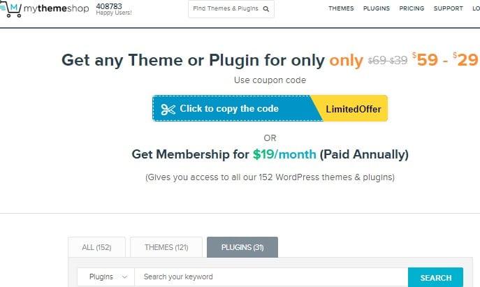 MythemeShop offer page