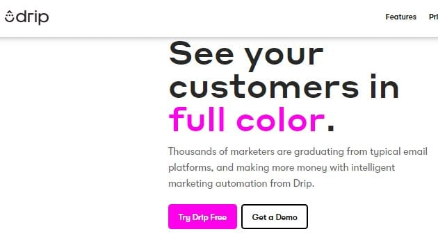 Drip is Second Most Selling Email Marketing Service provider