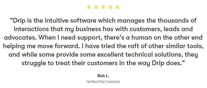 Drip's Customer Testimonial