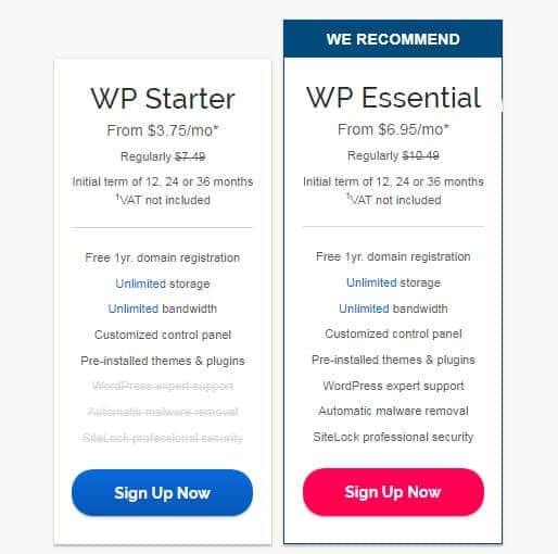 Ipage offer for WordPress Hosting