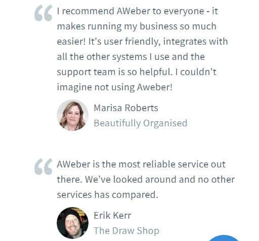 Aweber cutomer reviews