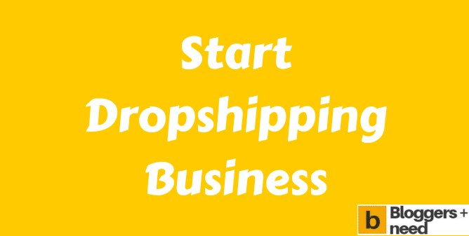 Start Online Dropshipping Business