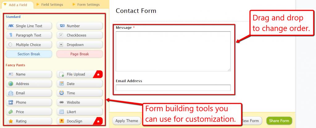 wufoo contact form