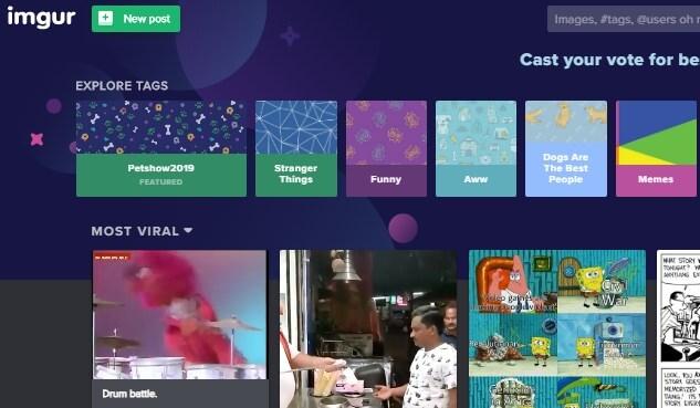 Free image hosting sites - IMgur