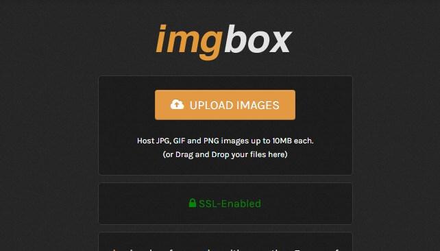 Free image hosting site - Imgbox
