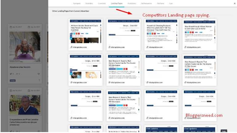 Competitors Landing page spying tool by Anstrex