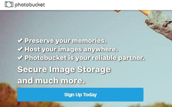 image hosting websites - Photobucket