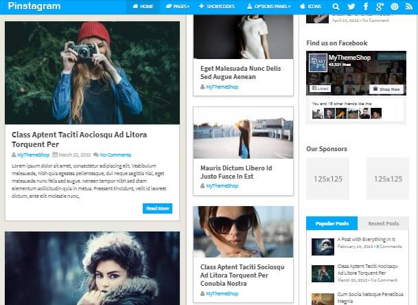 Pinterest WordPress Themes