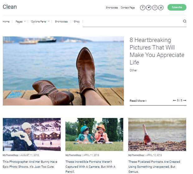 A Simple clean WordPress theme for bloggers