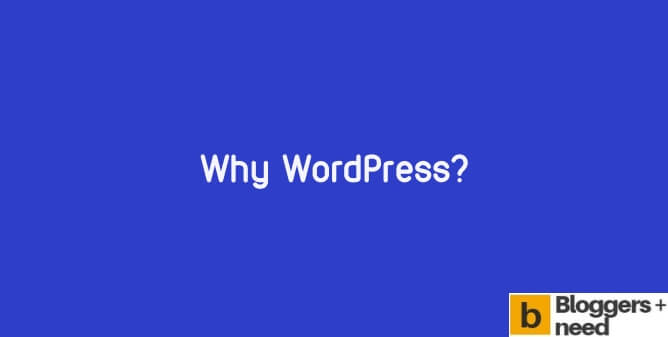 Image showing why use wordpress text in blue color background