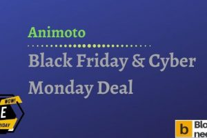 Animoto Black Friday