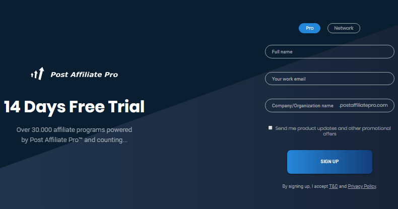 Post affiliate pro free trail