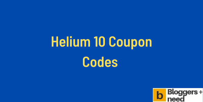 Helium 10 coupon codes