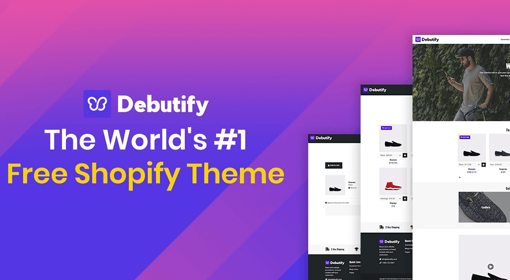 Debutify Theme Website Front Page