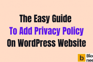 Add Privacy Policy on wordpress website