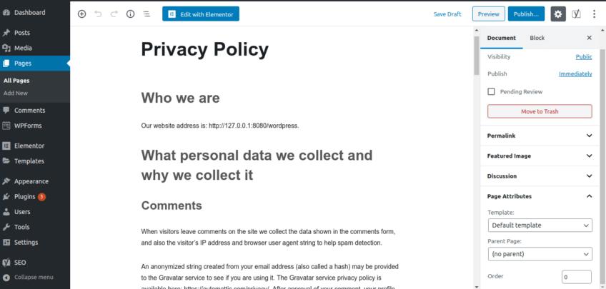 privacy policy creator