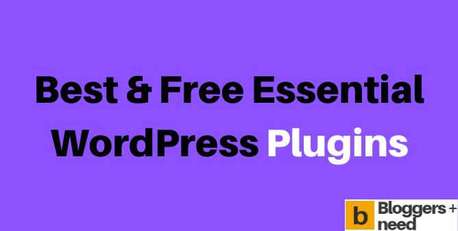 Best WordPress Free Plugins