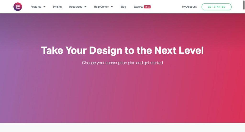 Elementor landing page builder wordpress plugin