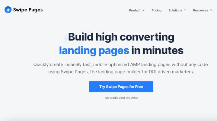 swipe pages to create high converting landing pages