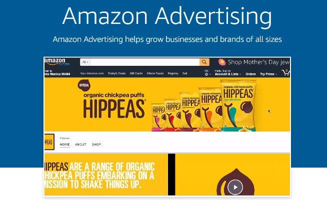 amazon display ads homepage