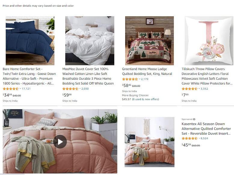 amazon product price